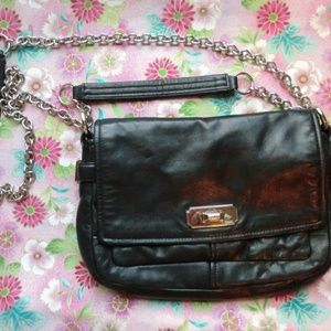 Coach Chelsea Crossbody Flap Leather Bag Chain